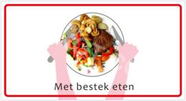 Met bestek eten (HR) T/V