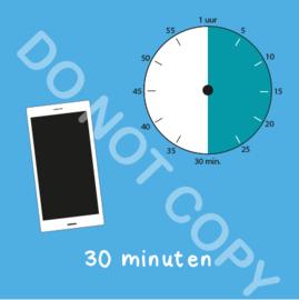 Mobiel tijden 30 min (BT) - T
