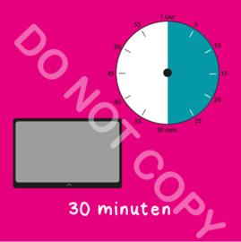 Tablet/I-Pad tijden 30 min (BT) - R