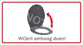 WCbril omhoog doen! (HR) T/V