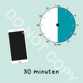 Mobiel tijden 30 min (BT) - M