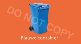 Blauwe container - T/V