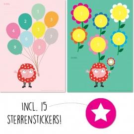1X Belonen - Bloemen/ballonnen Mia