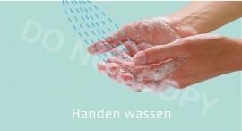 Handen wassen - M