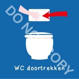 WC doortrekken (A)