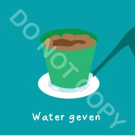 Water geven pot (act.)