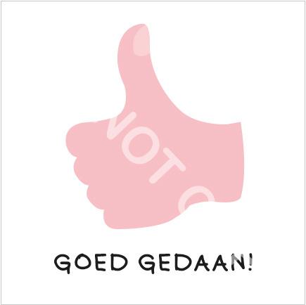 GOED GEDAAN! (S)