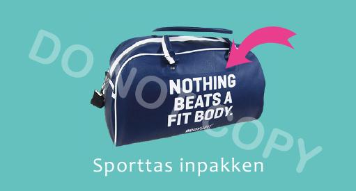 Sporttas inpakken - M