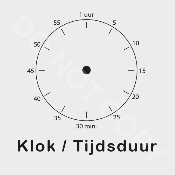 ZW/W - Klok/Tijdsduur - Middag