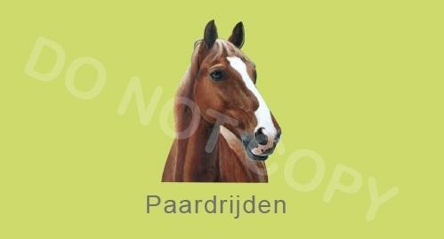 Paardrijden - J
