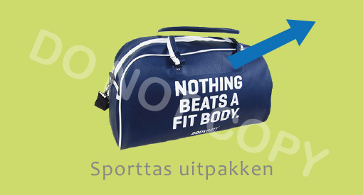 Sporttas uitpakken - J