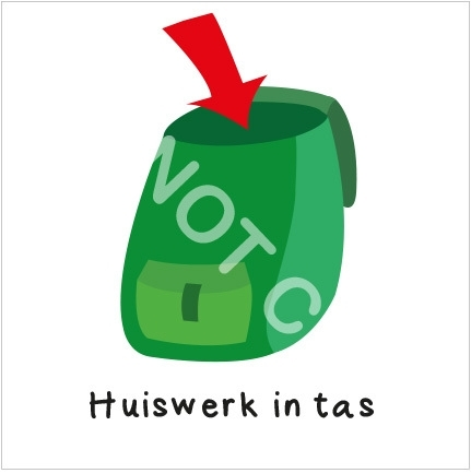 Huiswerk in tas (H)
