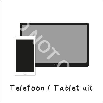 Telefoon / Tablet uit (H)