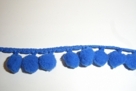 Bolletjesband blauw midden