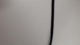 Elastiek zwart zacht 4mm