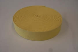 Tassenband geel 30 mm
