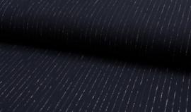 Viscose crinkle lurex marine