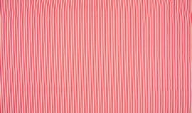 Katoen streep rood