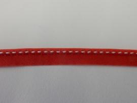 Paspel rood met witte stippen