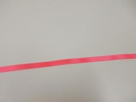 Satijnlint fluo roze 10 mm