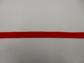 Fluweelband rood 9mm