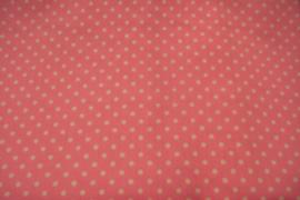 Roze met wit stipje