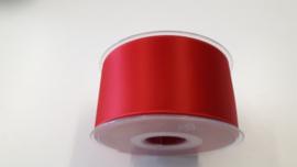 Satijnlint rood 50 mm
