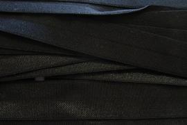 Rekbaar biais/galon zwart