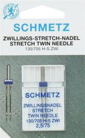 Stretch tweeling naald 2.5/75