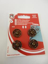 Aannaaibare drukknopen brons 19 mm