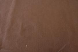 Katoen effen bruin