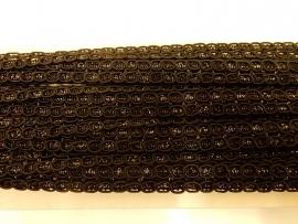 Rayon lurex bling zwart