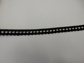 Kant zwart katoen 10 mm