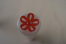 Knoop bloem rood