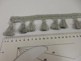 Flosjesband zilver