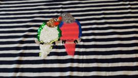 Paneel papegaai 'wrijfpailletten'