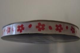 Ribslint rode bloem 9mm