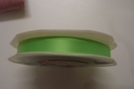 Satijnlint fluo groen 10mm