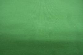 Katoentricot grasgroen