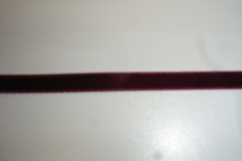 Fluweelband bordeaux 7mm