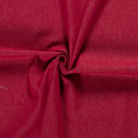 Jeans voorgewassen rood stretch