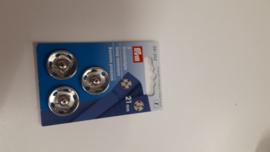 Aannaaibare drukknopen nikkel 21 mm