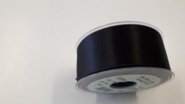 Satijnlint zwart 40 mm