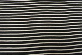 Boordstof zwart wit gestreept