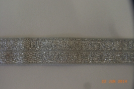 Rekbaar biais/galon zilver