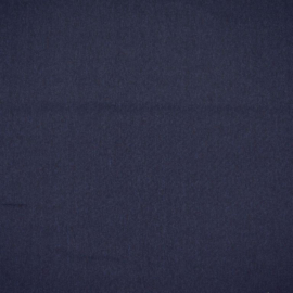 Polyester viscose blauw motiefje
