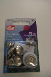 Overtrekbare knopen 15 mm