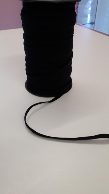 Elastiek zwart 5 mm