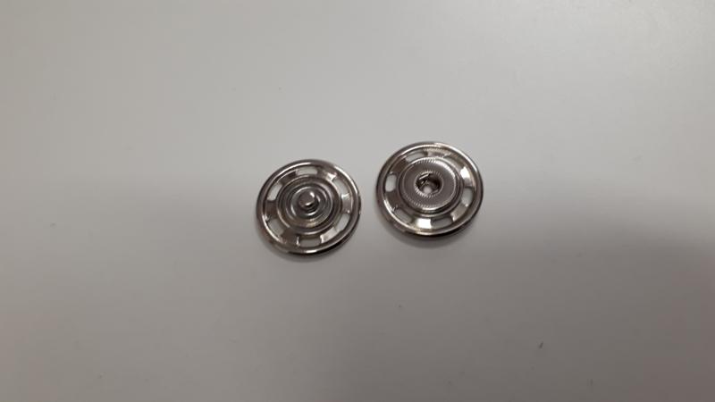 Aannaaibare drukknopen nikkel 30 mm