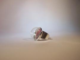 Strakke zilverkleurige ring (20mm)